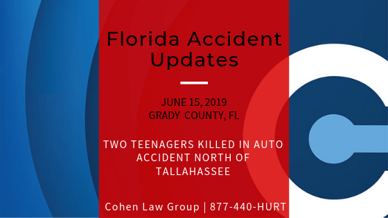 Two teenagers killed in auto accident north of Tallahassee - Cohen